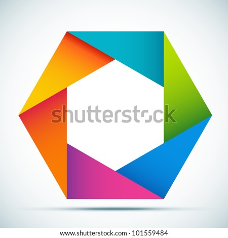 Vector illustration colorful abstract shape