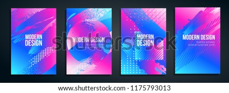vector illustration. colorful hipster background, stylish minimalistic design frame for the text header or wallpaper for the site. graphic arts business cards, invitations, gift cards, flyers and broc Foto stock ©