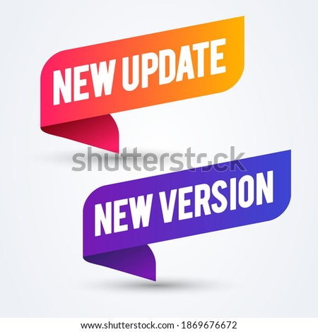Vector Illustration Colorful New Update And Version Banner Сток-фото ©