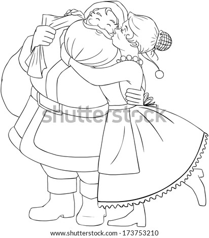 santa and mrs claus coloring pages - royalty free elder bearded wise chaldean sage priest