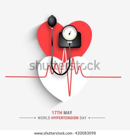 Vector illustration concept of world hypertension day.