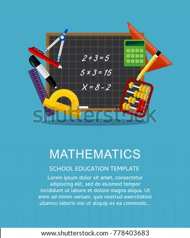 Vector illustration concepts for mathematics education and knowledge. Mathematic science. Concepts for web banner and promotional material.