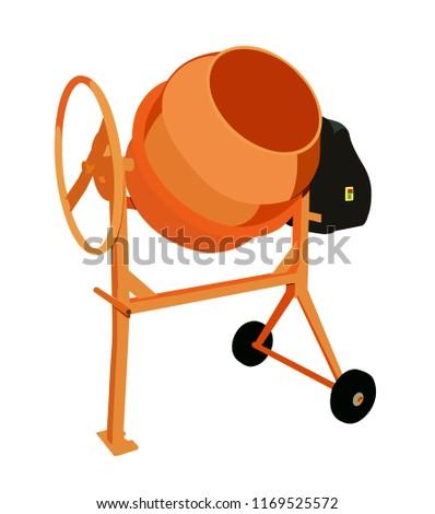 vector illustration concrete mixer