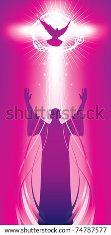 vector illustration contains the image Banner with an easter cross