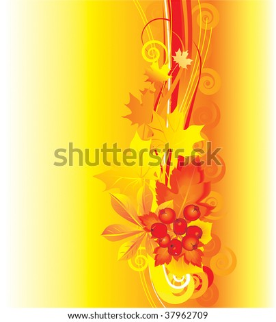 Vector illustration contains the image of  Autumn background