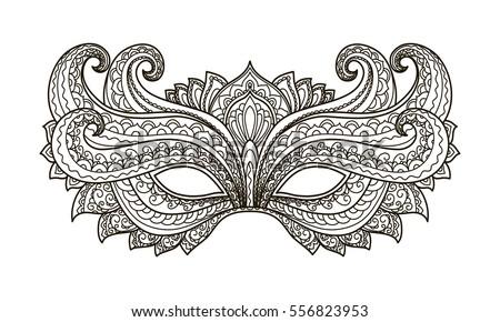 colorful masquerade mask vectors download free vector art stock