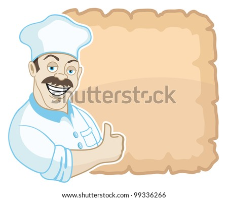 Vector illustration.Cook 1