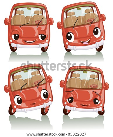 vector illustration  cute car