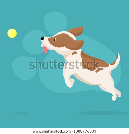 vector illustration cute dog
