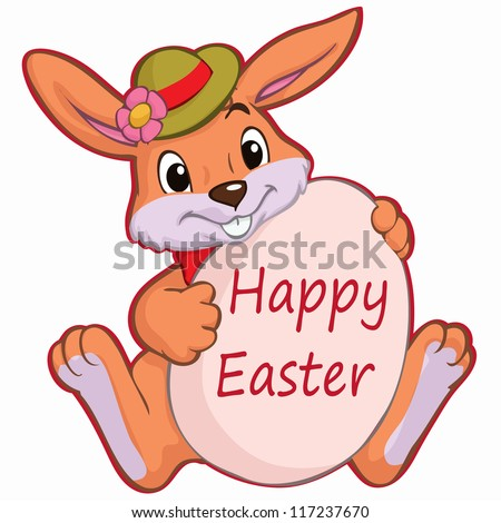 Cute Easter Bunny Cartoon