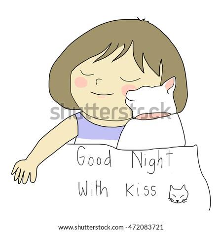 vector illustration   cute girl