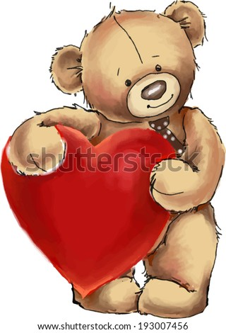 vector illustration cute teddy