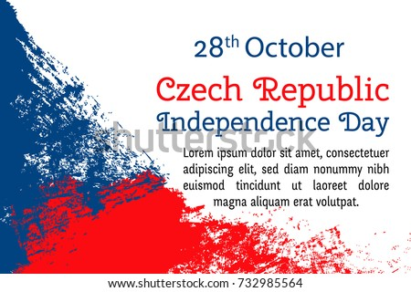Happy europe day flag vector template download free vector art vector illustration czech republic independence day flag in trendy grunge style 28 october design stopboris Choice Image