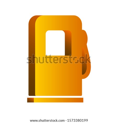 Vector illustration. 3d icon isolated on white background. Map Icon. Location Icon. Gas station icon.