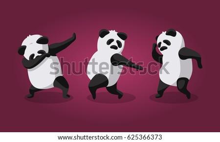 vector illustration   dancing