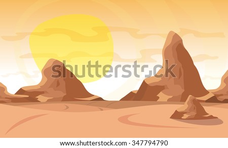 vector illustration desert