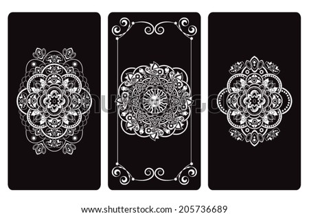 Stock Photo Vector illustration  design for Tarot cards