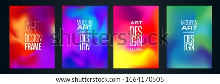 vector illustration.Design of colorful gradients. hipster graphics stylish liquid. element for design business cards, invitations, gift cards, flyers and brochures. frame set