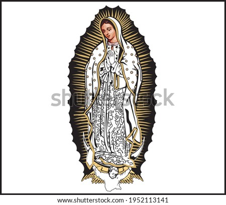 vector illustration design of our lady maria guadalupe Foto stock ©
