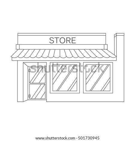 Vector Illustration Detailed Shop Market Store Cafe Icon 501730945