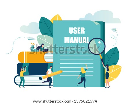 Vector illustration, Document specification requirements, Instructions for use flat style vector concept