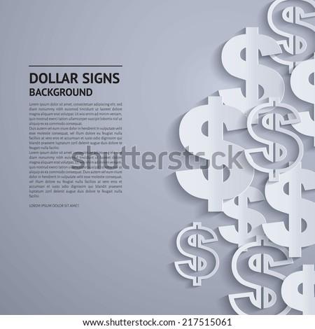 Vector illustration. Dollars sign on grey background.