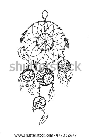 Royalty Free Stock Photos And Images Vector Illustration Unique Dream Catcher Design Patterns