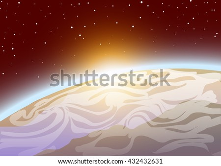 vector illustration earth from