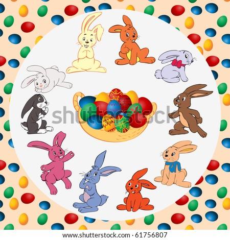 chocolate easter bunnies cartoon. easter bunny cartoon. easter
