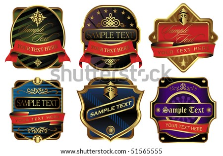 Vector illustration: Elegant labels isolated on white