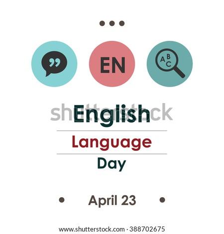 vector illustration / english language day