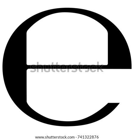 Vector illustration estimated sign, e-mark , e symbol isolated on white background