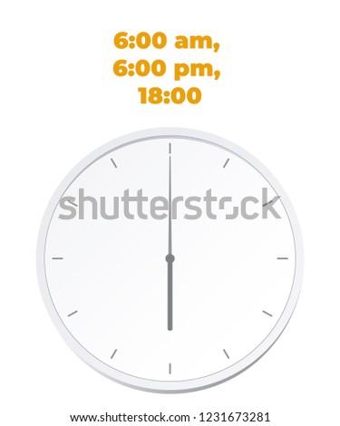 Clock 6:00   ClipArt ETC