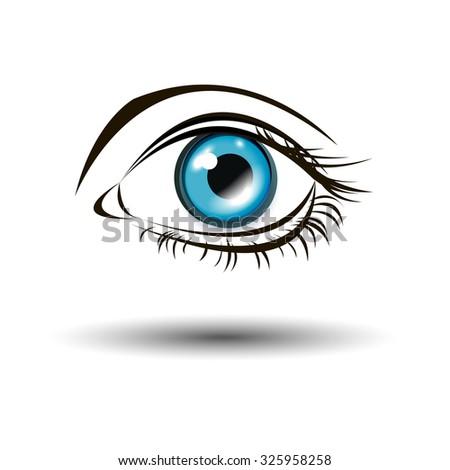 vector illustration eye human