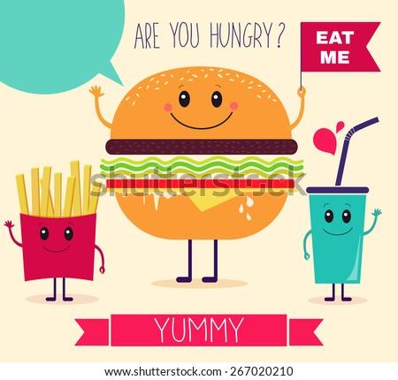 vector illustration fast food