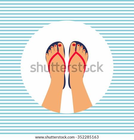 vector illustration female feet