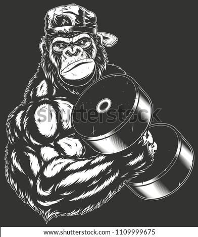 vector illustration  ferocious