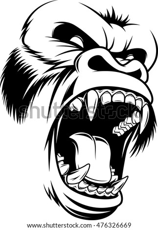 vector illustration  ferocious