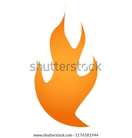 Vector illustration. Fire logo. Red, yellow fire #1176581944