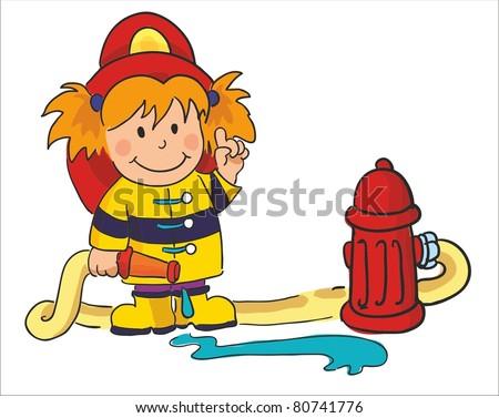 vector illustration- fireman