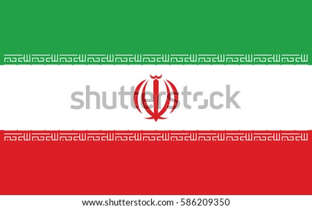 vector illustration flag of iran