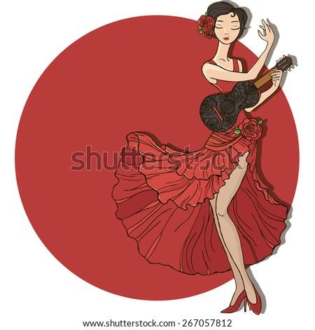 vector illustration flamenco