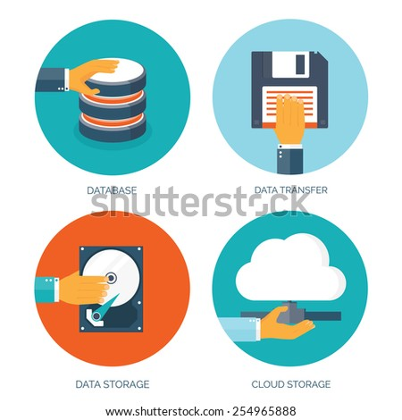 vector illustration flat data
