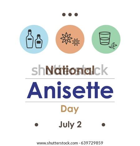 vector illustration for anisette day in July