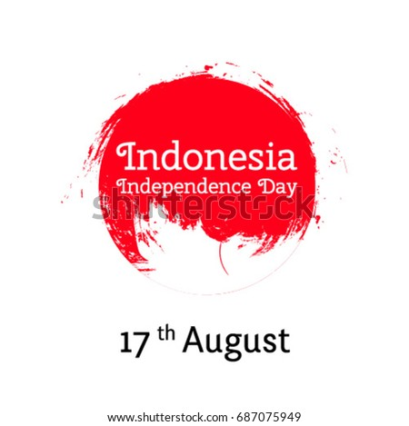 Indonesia logo download free vector art stock graphics images vector illustration for 17 august indonesia independence day in grunge style design template for poster stopboris Gallery