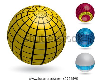 Vector illustration for different sphere