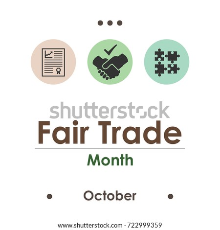 vector illustration for fair trade month in October