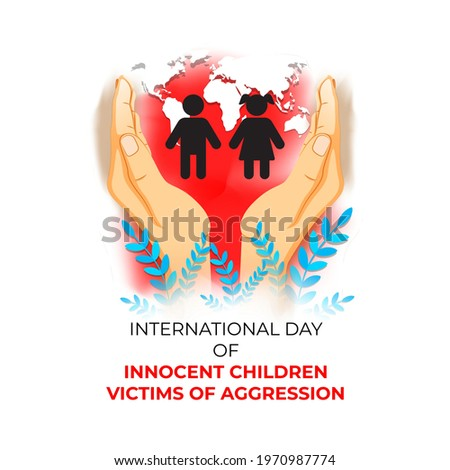 vector illustration for international day of innocent children victims of aggression  Stock photo ©