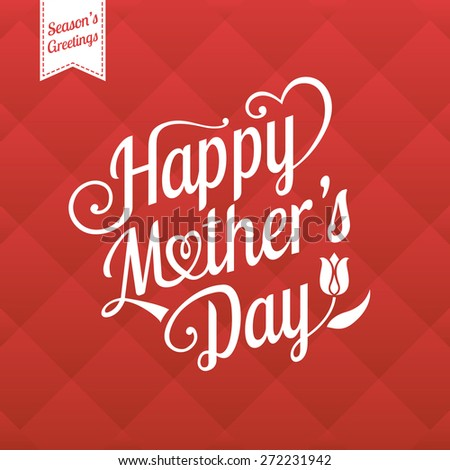 Vector illustration for mother day in retro style #272231942
