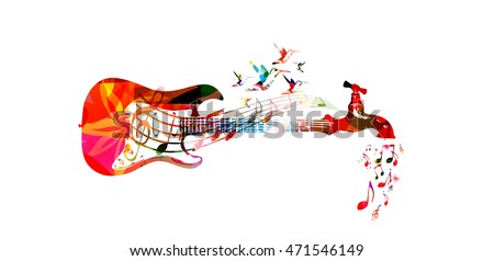 vector illustration for music